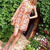 Одежда ручной работы. Ярмарка Мастеров - ручная работа Платье трапеция из шелка. Handmade.