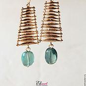 Украшения handmade. Livemaster - original item Earrings with fluorite