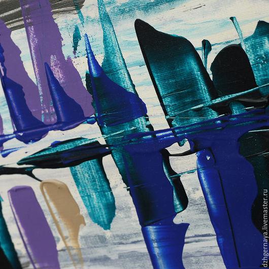 купить картину акрилом, абстракция картины, синяя картина, картины в холодных тонах, купить картины для интерьера, картина масло, абстрактные картины, светлая картина, купить картину в москве