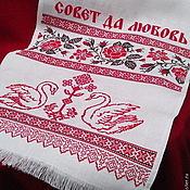 Русский стиль handmade. Livemaster - original item Wedding towel advice and Love. Handmade.