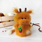 Stuffed Toys handmade. Livemaster - original item Alenka The Cow. knitted toy. Handmade.