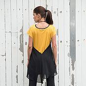 Одежда ручной работы. Ярмарка Мастеров - ручная работа Желтый топ, туника летняя. Handmade.