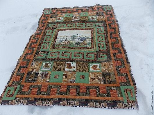 """Текстиль, ковры ручной работы. Ярмарка Мастеров - ручная работа. Купить Лоскутное одеяло """"Африка"""". Handmade. Лоскутное одеяло"""