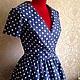 """Платья ручной работы. Платье """" Горошек"""" в стиле 50-х от SOLOdress. SOLOdress. Ярмарка Мастеров. Ретро платье"""