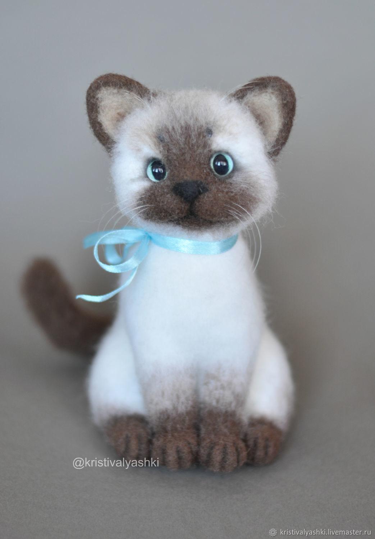 Валяная игрушка котенок, Войлочная игрушка, Северодвинск,  Фото №1