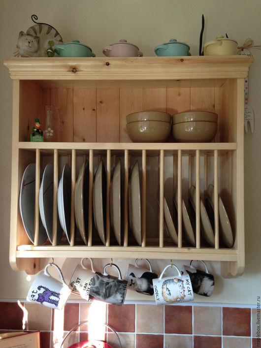 Мебель ручной работы. Ярмарка Мастеров - ручная работа. Купить Полка для посуды №2. Handmade. Белый, полка для кухни, для посуды