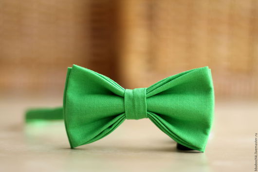 Галстуки, бабочки ручной работы. Ярмарка Мастеров - ручная работа. Купить Бабочка ярко-зеленая детская/взрослая. Handmade. Ярко-зелёный