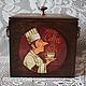 """Кухня ручной работы. Ярмарка Мастеров - ручная работа. Купить Короб для хранения """"Coffee"""". Handmade. Коричневый, кухонные принадлежности"""