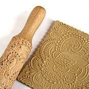 Для дома и интерьера ручной работы. Ярмарка Мастеров - ручная работа Узор скалка для печатного печенья и пряников в подарок женщине. Handmade.