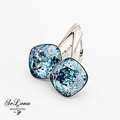 Украшения handmade. Livemaster - original item Earrings with Swarovski crystals silver 925_svarovski silver earrings. Handmade.