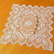 Swipe handmade. Livemaster - original item Napkin needle lace. Lace miniature hand embroidery. Handmade.