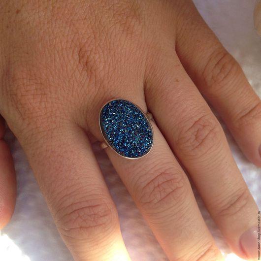 """Кольца ручной работы. Ярмарка Мастеров - ручная работа. Купить Кольцо """"Вселенная"""" (1). Handmade. Тёмно-синий, с титановым покрытием"""