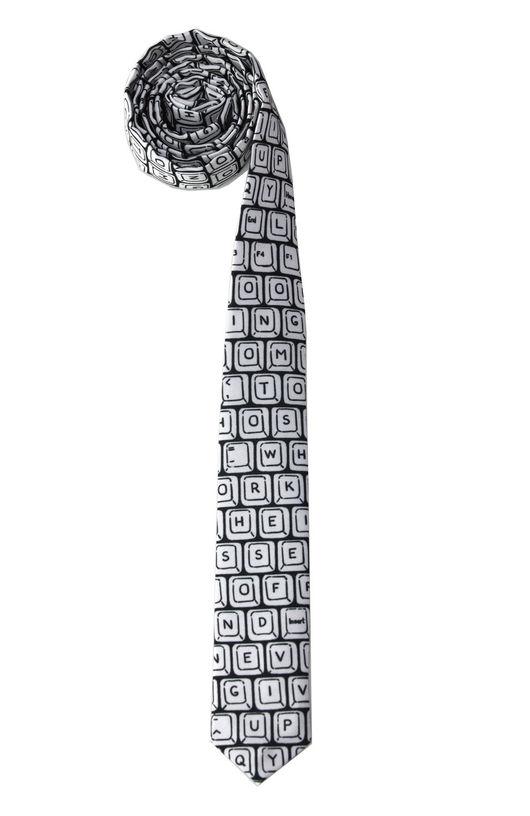 Узкий галстук с клавиатурой