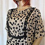 Одежда handmade. Livemaster - original item Dress viscose leaf fall. Handmade.