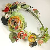 Украшения handmade. Livemaster - original item The June Pastoral. wreath. Handmade flowers from fabric. Handmade.