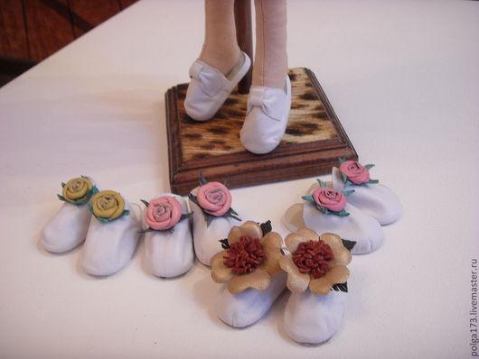 Одежда для кукол ручной работы. Ярмарка Мастеров - ручная работа. Купить Тапочки для Тильды. Handmade. Бледно-сиреневый, обувь