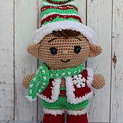 Куклы и игрушки handmade. Livemaster - original item Pups in the costume of the Christmas elf.. Handmade.