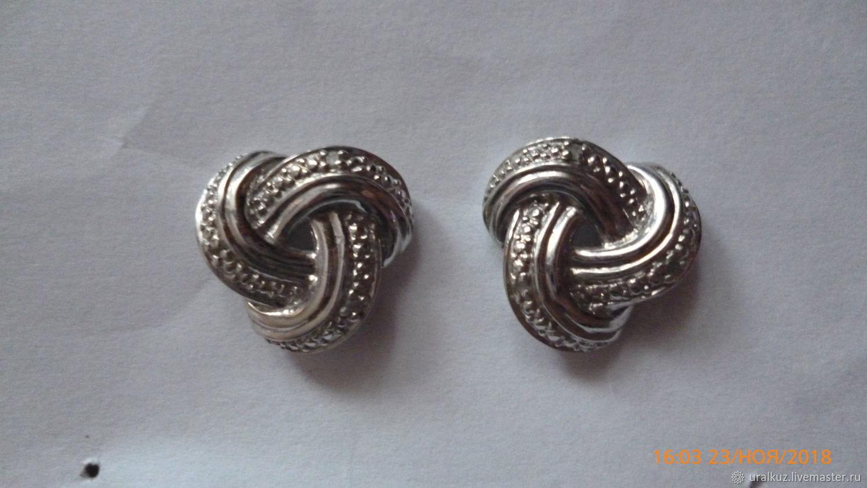 Серьги серебро с бриллиантами, Серьги классические, Челябинск,  Фото №1