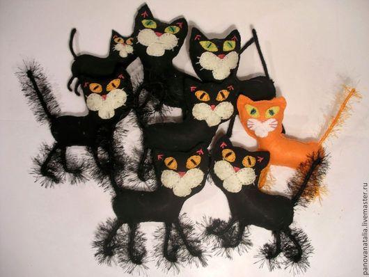 Миниатюра ручной работы. Ярмарка Мастеров - ручная работа. Купить Фетровые коты. Handmade. Фигурка, подарок