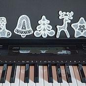 Подарки к праздникам handmade. Livemaster - original item Azhur. A set of Christmas ornaments. Handmade.
