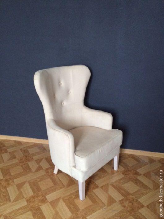 Мебель ручной работы. Ярмарка Мастеров - ручная работа. Купить Кресло с ушками. Handmade. Бежевый, хенд мейд, мебель для спальни