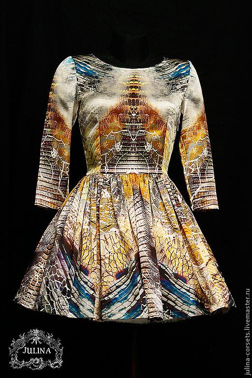 """Платья ручной работы. Ярмарка Мастеров - ручная работа. Купить платье """"Хищница"""" . Рептилия. Handmade. Звериная расцветка, платье, рептилия"""