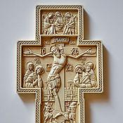 Картины и панно ручной работы. Ярмарка Мастеров - ручная работа Резной Крест. Handmade.