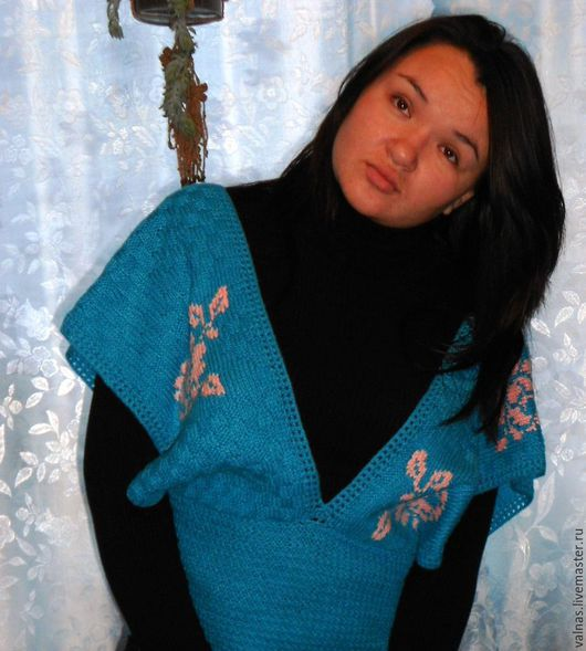 Vests handmade. Livemaster - handmade. Buy Vest 'Clouds of roses'. work..Turquoise, stylish vest, work olga mancini
