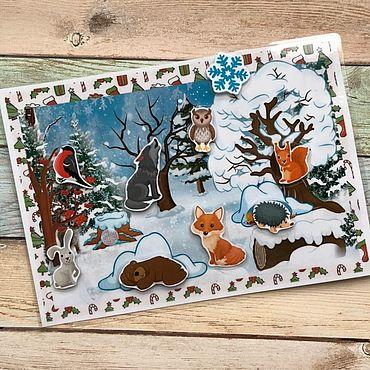 Куклы и игрушки ручной работы. Ярмарка Мастеров - ручная работа Зимний лес на липучках. Handmade.