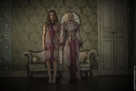"""Платья ручной работы. Ярмарка Мастеров - ручная работа. Купить Платье """"Амарилис"""". Handmade. Бордовый, платье, секси, вечер, мода"""