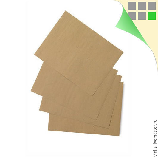Крафт бумага А4 210х297 мм (плотная крафт-бумага в листах A4, 200 г/м2 (крафт картон)