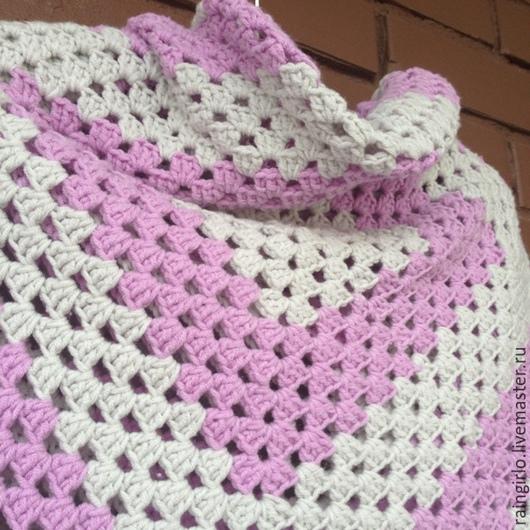 Пледы и одеяла ручной работы. Ярмарка Мастеров - ручная работа. Купить Плед Дымка. Handmade. Плед, плед в кроватку, для малыша