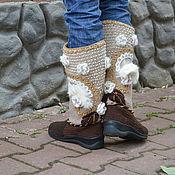 """Обувь ручной работы. Ярмарка Мастеров - ручная работа Вязаные сапожки """" Княгиня"""" зимние. Handmade."""