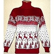 Одежда ручной работы. Ярмарка Мастеров - ручная работа Вязаный свитер Лесной олень. Handmade.