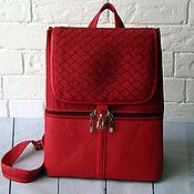 Рюкзаки ручной работы. Ярмарка Мастеров - ручная работа Рюкзак женский бордовый. Handmade.