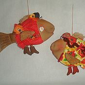 Куклы и игрушки ручной работы. Ярмарка Мастеров - ручная работа Рыбы. Handmade.