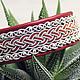 Шведский кожаный красный женский браслет ручной работы. Скандинавские украшения. Шведский саамский браслет. Браслет из кожи оленя, бусины серебро 925 пробы. Скандинавский орнамент, шелковый шнур. Авто