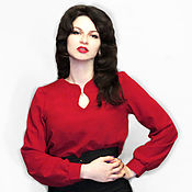 Одежда handmade. Livemaster - original item The red blouse