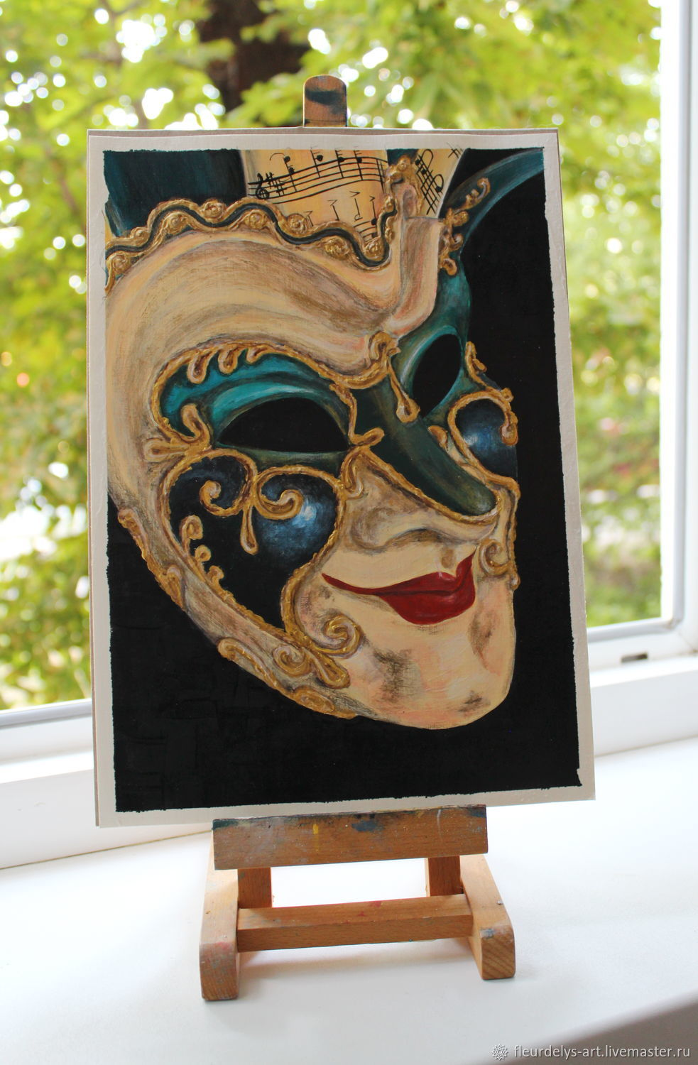 Mask.Third party.Acrylic painting, Pictures, Armavir,  Фото №1