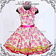 """Одежда для девочек, ручной работы. Ярмарка Мастеров - ручная работа. Купить Детское платье""""Цветы"""" желто-розовое Арт.128. Handmade."""