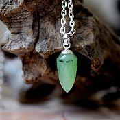 Украшения handmade. Livemaster - original item jade. Pendant - pendulum. Handmade.