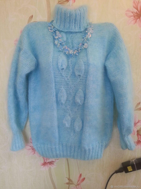 Кофты и свитера ручной работы. Ярмарка Мастеров - ручная работа. Купить Пуховый свитер. Handmade. Весна
