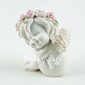 Материалы для творчества handmade. Livemaster - original item Silicone molds for soap Cute angel No. №1. Handmade.