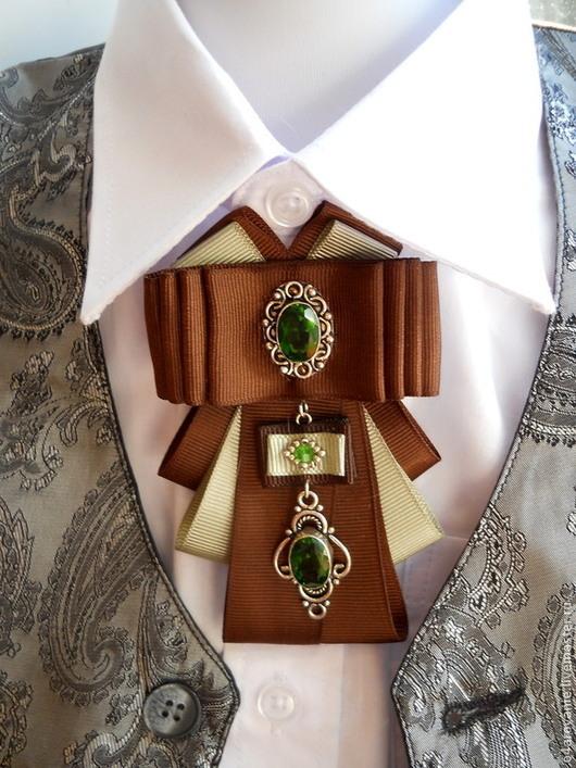 Броши ручной работы. Ярмарка Мастеров - ручная работа. Купить Брошь-галстук   2 вида. Handmade. Зеленый, брошь