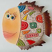 Картины и панно handmade. Livemaster - original item Panels: Fish-fish. Handmade.