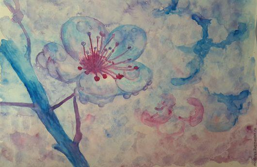 Картины цветов ручной работы. Ярмарка Мастеров - ручная работа. Купить Ах, этот запах весны.... Handmade. Весна, голубой