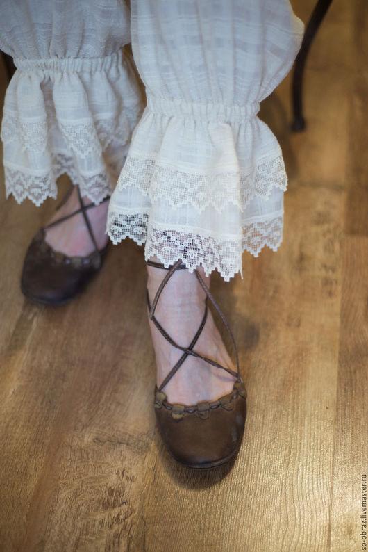 """Белье ручной работы. Ярмарка Мастеров - ручная работа. Купить Кружевные панталончики """"Прованс"""". Handmade. Бежевый, кружевное белье, белье"""