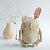 Куклы и игрушки ручной работы. Ярмарка Мастеров - ручная работа Зайчик Льняной друг Мышки. Handmade.