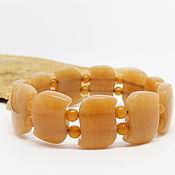 Украшения handmade. Livemaster - original item Bracelet made of natural orange aventurine ginger. Handmade.