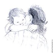 Картины и панно ручной работы. Ярмарка Мастеров - ручная работа Картина Доброе Утро! рисунок карандашом графика серый белый. Handmade.